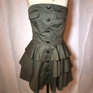 Forever 21 Ruffle Strapless Dress